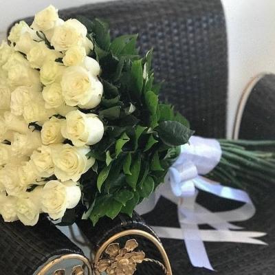 Роза 51 штук 80 см