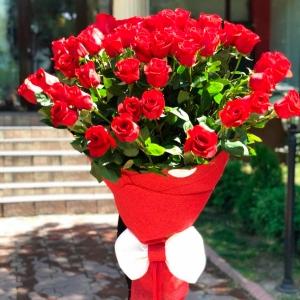 Голландские Розы 1м 101шт белые